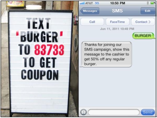 Exemple de sms marketing pour un restaurant